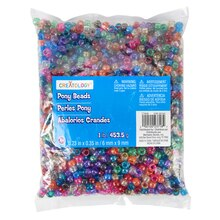 Creatology Pony Beads, 1 lb. Glitter Assortment